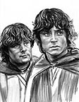 Frodo and Sam in Ithilian